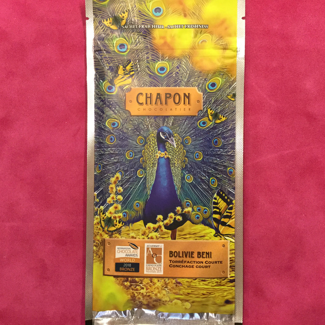 Chapon Bolivie Dark Chocolate Bar - Barometer Chocolate