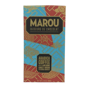 Marou Arabica Coffee 64% Dark Chocolate Bar