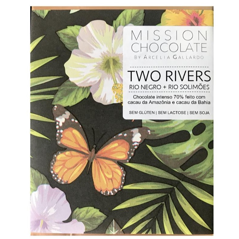 Mission Chocolate Two Rivers 70% Dark Chocolate Bar