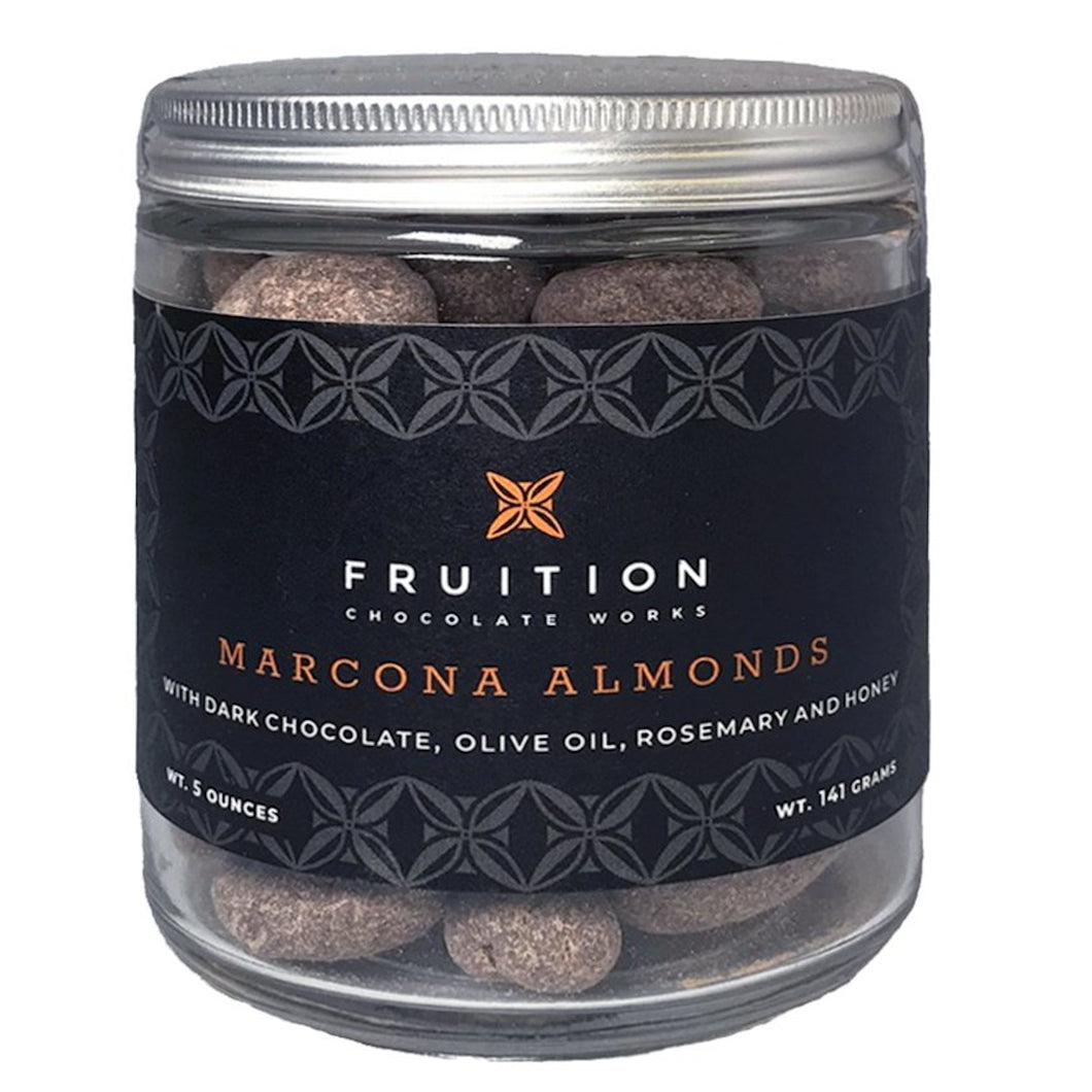 Fruition Sweet and Savory Dark Chocolate Covered Marcona Almonds - Barometer Chocolate