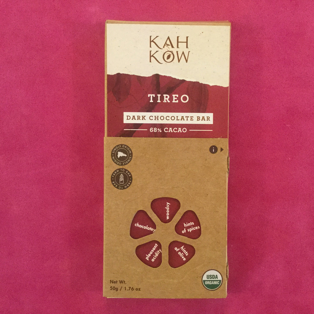 KahKow Tireo Dark Chocolate Bar - Barometer Chocolate