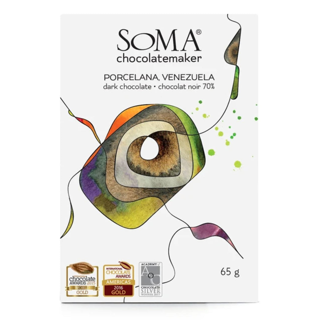 Soma Chocolatemaker Porcelana Dark Chocolate Bar - Barometer Chocolate