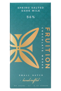 Fruition Spring Salted Dark Milk 56% Chocolate Bar - Barometer Chocolate