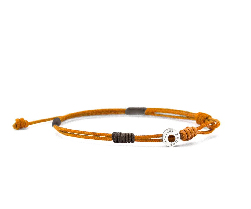 "Cayenne Bracelets Zadeh NY 5"" Orange/Brown"