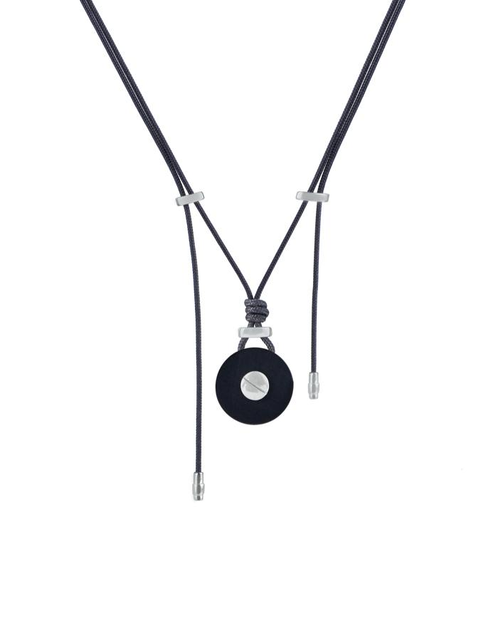 Ines horn pendant white gold Zadeh NY