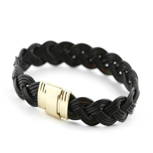 Ronan (braided) |yellow gold Zadeh NY Men's Large (19.5 cm)
