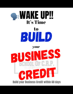 Wake Up!! It's time to Build your Business Credit Physical Books