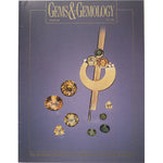 Cover of Gems & Gemology Fall 1995 issue, featuring earth tone gemstones with abstract gold object