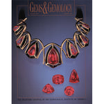Cover of Gems & Gemology Summer 1997 issue, featuring gold choker with large red gemstones
