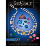 Cover of Gems & Gemology Winter 2000 90s retrospective issue, featuring varied jewels and necklace