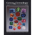 Cover of Gems & Gemology Spring 1990 issue, featuring polished gemstones of various shapes and colors