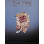Cover of Gems & Gemology Fall 2000 issue, featuring jewel encrusted flower art object