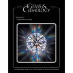 Cover of Gems & Gemology Fall 2004 issue, featuring gleaming diamond