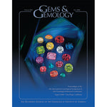 Cover of Gems & Gemology Fall 2006 issue, featuring various polished gems over deep blue gem