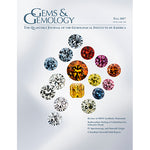 Cover of Gems & Gemology Fall 2017 issue, featuring translucent, polished gems of various colors