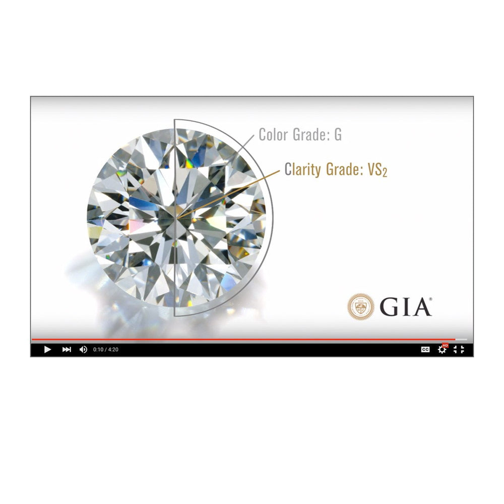 Video thumbnail, featuring diamond next to its 4C grading results