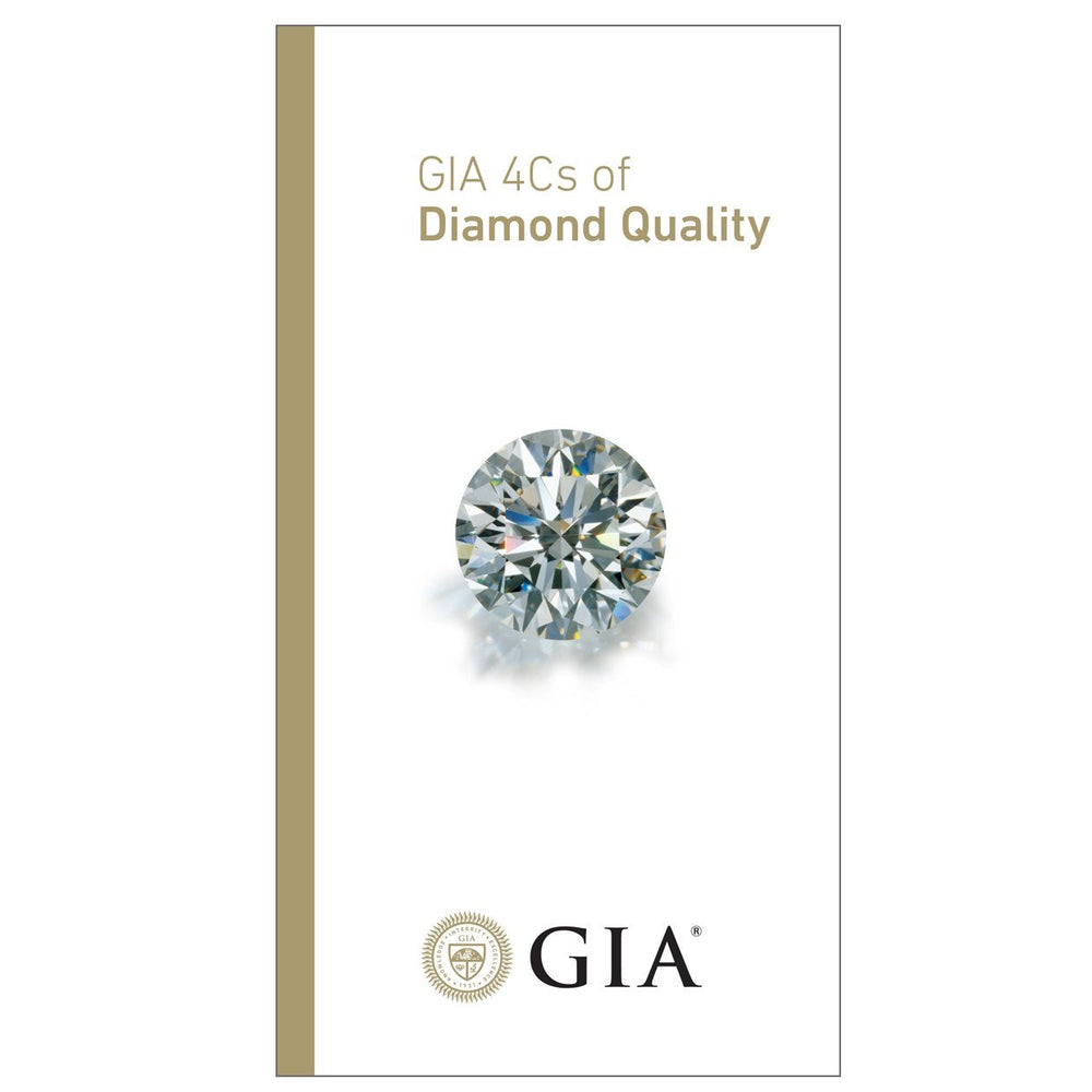 GIA 4Cs of Diamond Quality brochure front with diamond and GIA logo