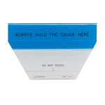 Blue and clear GIA table gauge
