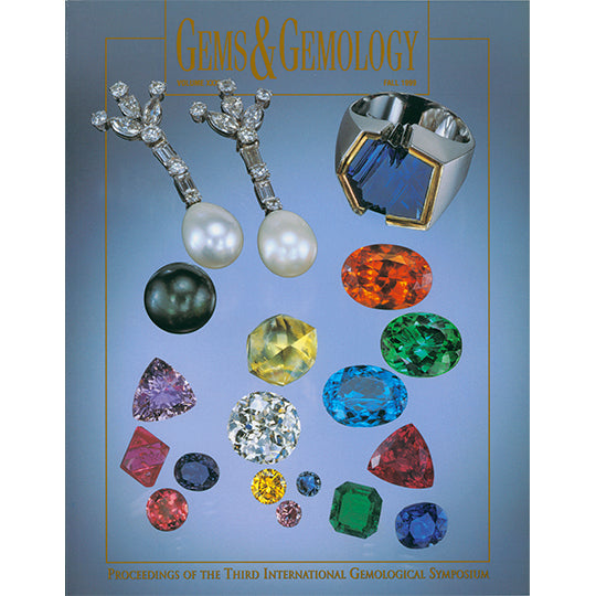 Cover of Gems & Gemology Fall 1999 issue, featuring varied polished gemstones