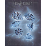 Cover of Gems & Gemology Winter 1998 issue, featuring gleaming blue-tinted gems