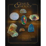 Cover of Gems & Gemology Winter 2011 issue, featuring rough and polished opal