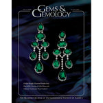 Cover of Gems & Gemology Summer 2007 issue, featuring elaborate hanging green gem earrings