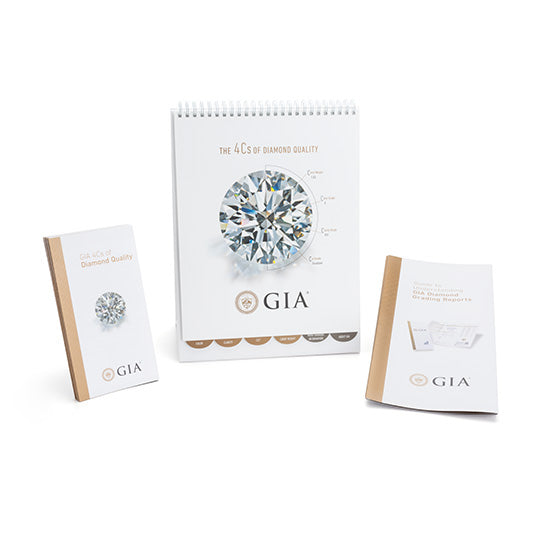 4Cs Counter Display, 4Cs of Diamond Quality Brochure, and A Guide to Understanding GIA Diamond Reports
