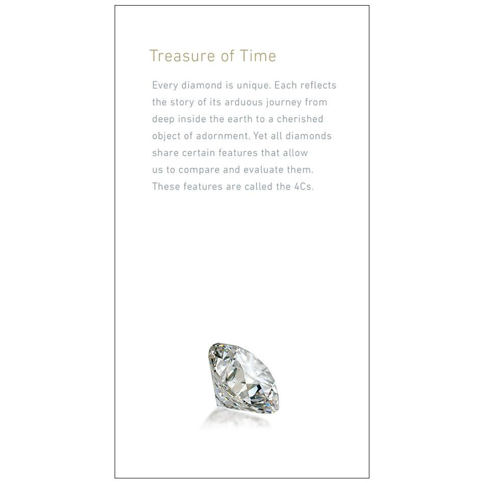 "Brochure page with heading""Treasure of Time"", text, and diamond"
