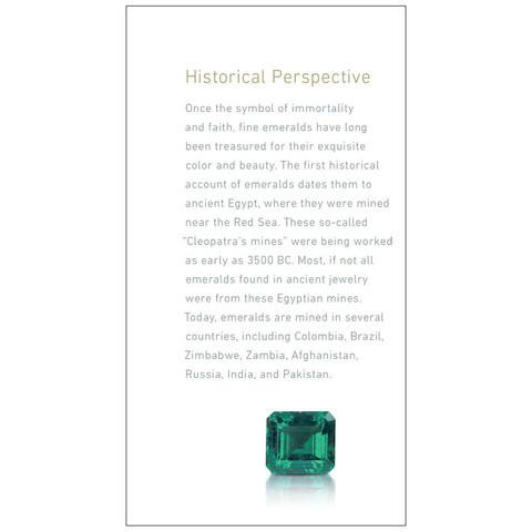 "Emerald brochure panel ""Historical Perspective"""