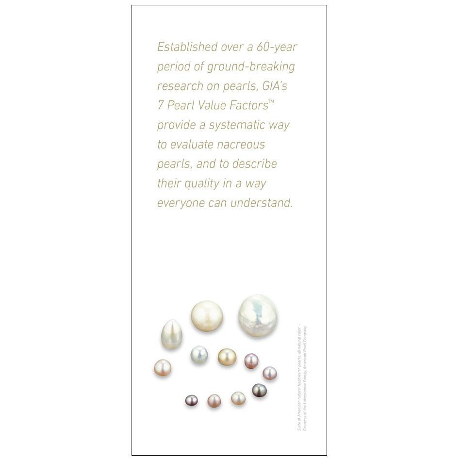 7 Pearl Value Factors brochure panel, featuring text that provides background about the value factors system