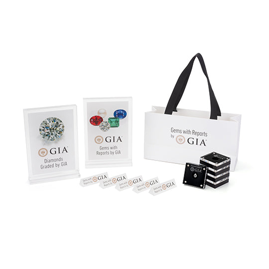 All displays and products included in GIA signage kit