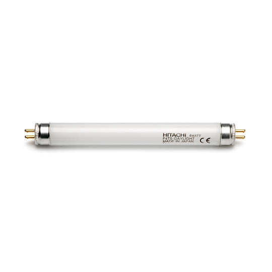 White fluorscent lighting tube for GIA overhead lamps GIA MaxiLabs and GIA GemoLite TraveLabs - 4 Watt