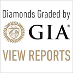 "Square button with text ""Diamonds graded by GIA View Reports"""