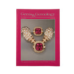 Cover of Gems & Gemology Winter 1998 issue, featuring jewelry made with gold, red gemstone, and pearl