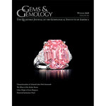 Cover of Gems & Gemology Winter 2018 issue, featuring pale pink ring