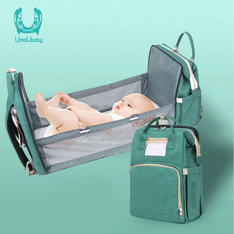 3-In-1 Diaper Bag with Portable Changing Bed | Pierce & Bianca™