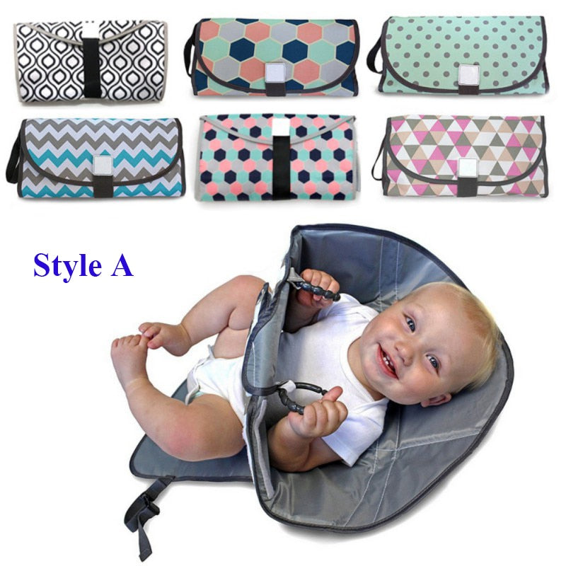 Foldable Changing Pad and Diaper Bag