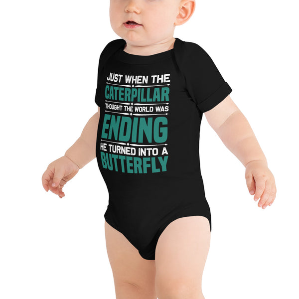 """Just when the caterpillar"" Onesie/bodysuit"