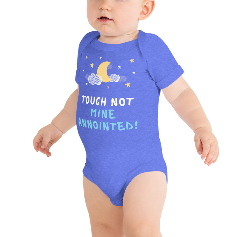 """Touch Not Mine Anointed"" Baby Onsie"