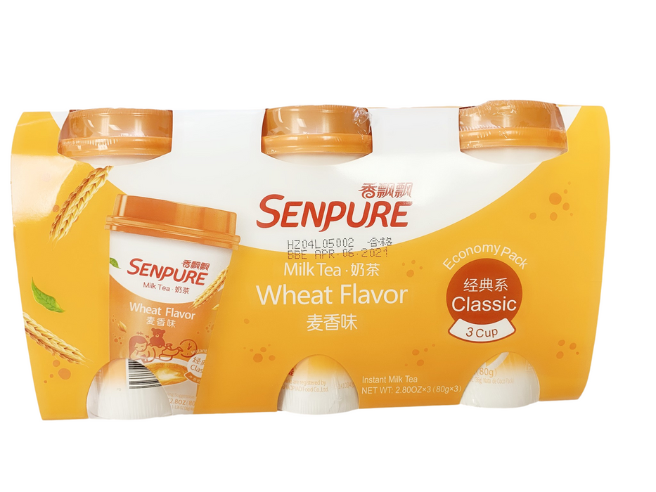 SENPURE Milk Tea Powder Wheat Flavor (Instant Milk Tea) Set of 3