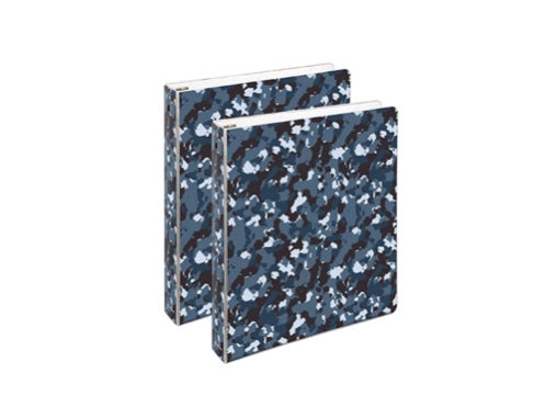 Set of 2 Multicolor Optional 3-Ring Binders