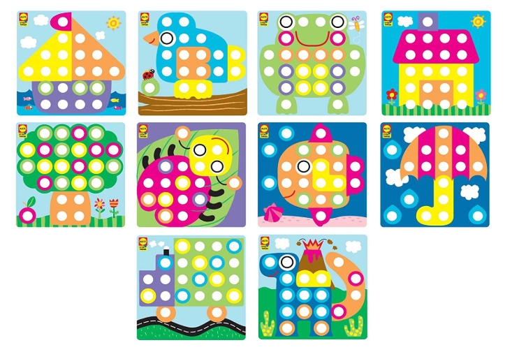 Discover Button Art Activity Set Kids Art and Craft Activity - Pilemart