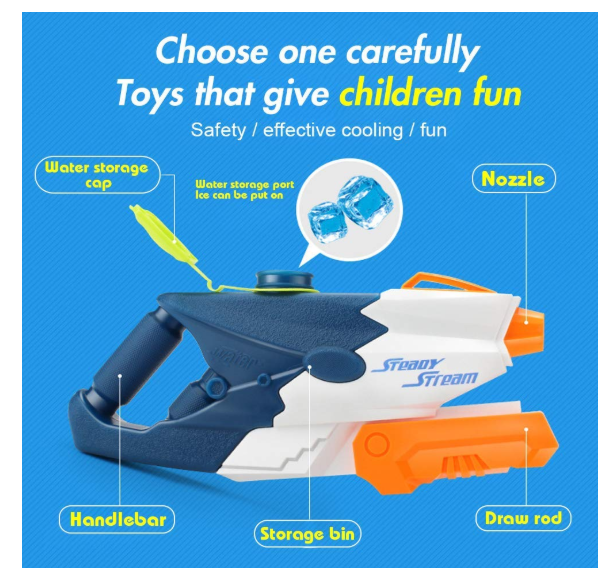 Water Guns for Kids, Super Squirt Guns Water Blaster Set, Pool Toys for Kids Water Blaster Gun Beach Sand Outdoor Water Fighting Play Toys - Pilemart
