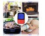 Wireless Meat Thermometer,Meat Probe Thermometer,Perkisboby Instant Read Digital Food Thermometer with Dual Probes LCD Display Alarm Timer for Kitchen Cooking BBQ Grilling Smoker Oven Baking - Pilemart
