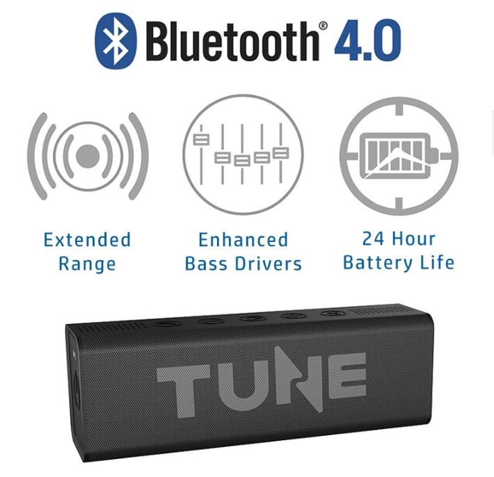 Bluetooth Speaker with Loud Stereo Sound, 24-Hour Playtime,  Built-in Mic. Perfect Portable Wireless Speaker for iPhone, Samsung and More - Pilemart