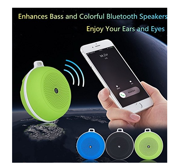 Wireless Mini Speaker, Portable Lightweight Flexible Bluetooth Speakers with HD Sound and Bass for Indoor & Outdoor Travel Cycling/Climbing/Hiking - Pilemart