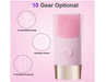 Facial Cleansing Brush, D7 Sonic Rechargeable Silicone Facial Cleanser, IPX7 Waterproof with 10 Speeds, Dual Purpose for All Skin Types. (Pink) - Pilemart
