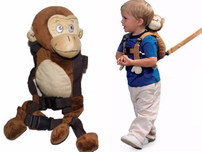 Children Safety Anti-Lost Backpack Harness (Monkey)
