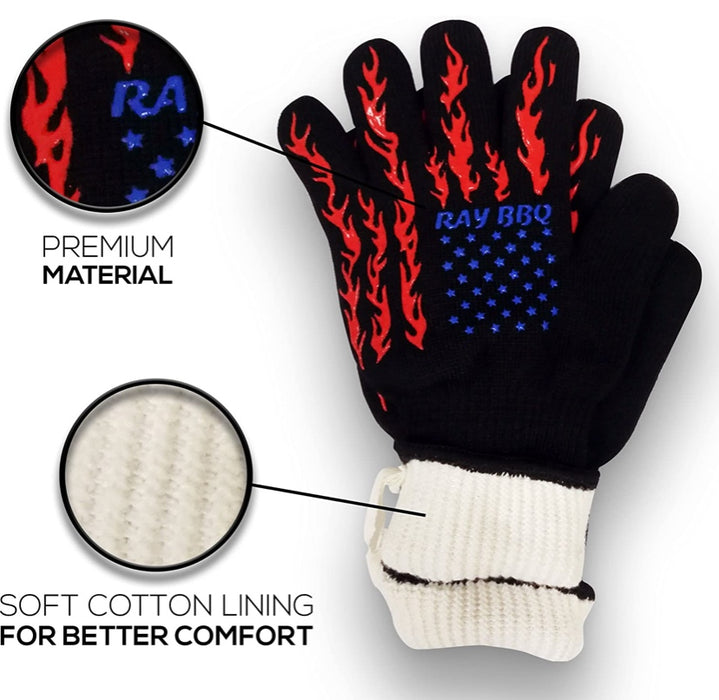 Woolen Heat Resistant Gloves 1 Pair
