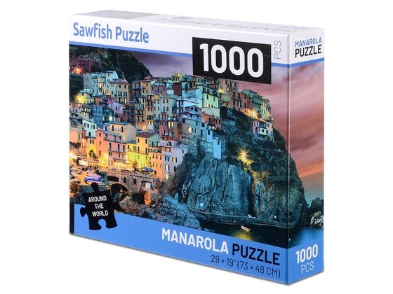 Puzzle 1000 Pieces Jigsaw Puzzle License Plate Game Gift French town, Europe, Money - Pilemart